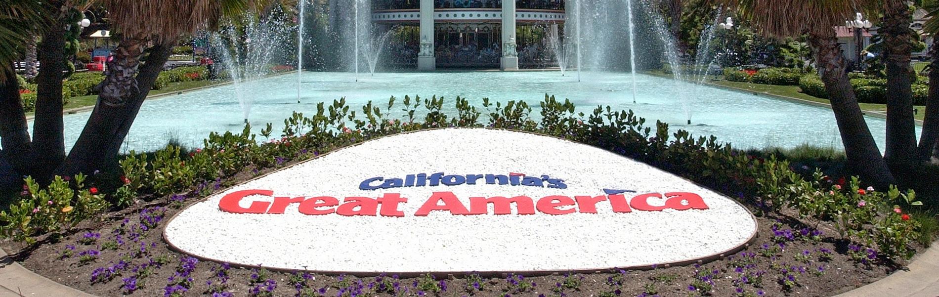 California's Great America sign in Santa Clara