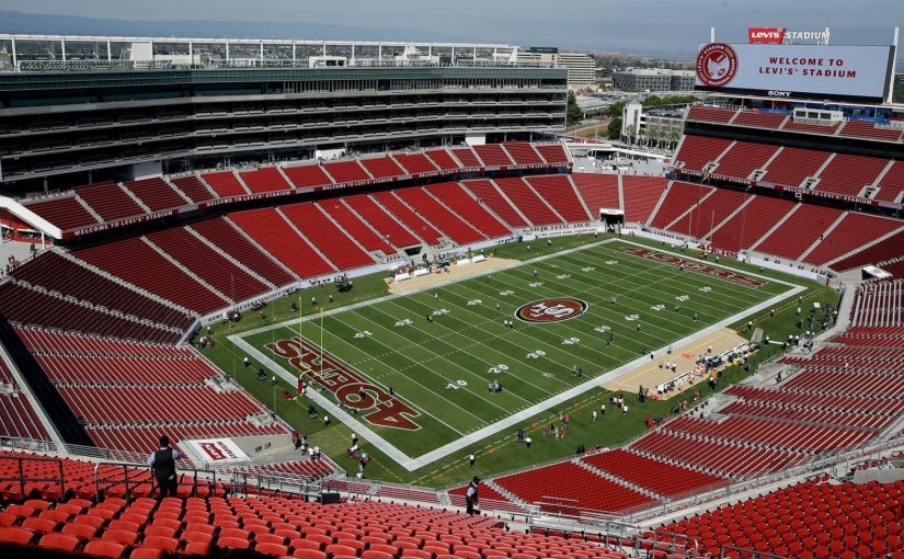 49ers Logo Field Levi's Stadium - SANTA CLARA